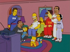 The Simpsons 16x08 : Homer and Ned's Hail Mary Pass- Seriesaddict
